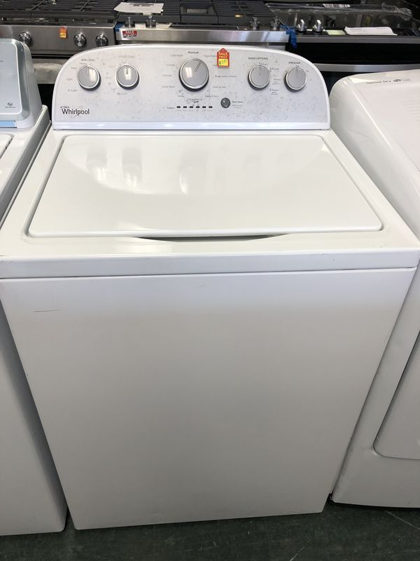 New Whirlpool top load washer and dryer electric set with warranty