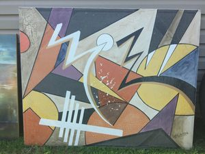 Huge Abstract Art Piece aprox 5'x5.5' for Sale in Raleigh, NC