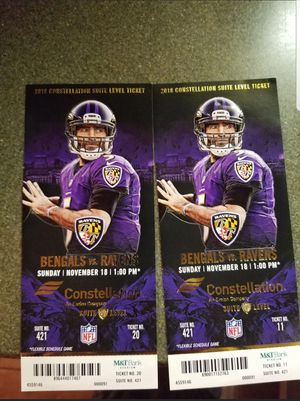 Raven's game tickets for Sale in Sterling, VA