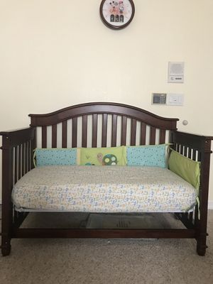 Crib, Crib Mattress with Allergen protective cover for sale for Sale in San Ramon, CA