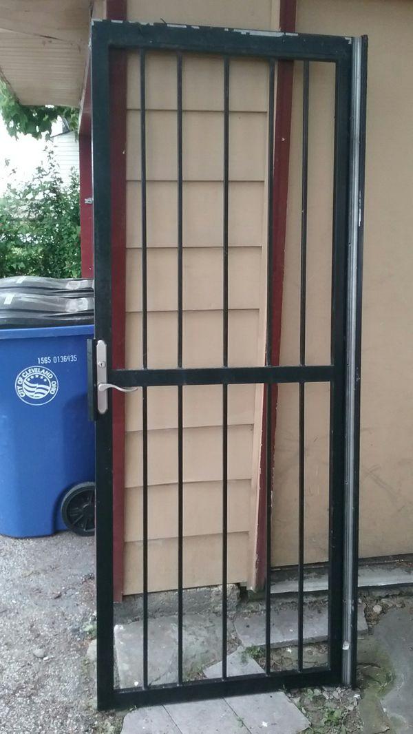 """32"""" Black Security Door"""