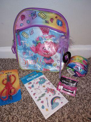 "Trolls girls Backpack ""Back to School"" supplies. brand New! for Sale in Stockbridge, GA"
