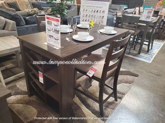 3 PC Counter Height Dining Set, Brown for Sale in Westminster,  CA