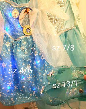 3 Frozen Elsa Official Disney Dresses and Shoes for Sale in Las Vegas, NV