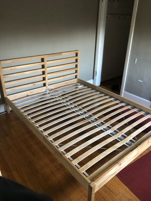 Queen Bed Frame - IKEA Tarva ($149 MSRP) for Sale in San Francisco, CA