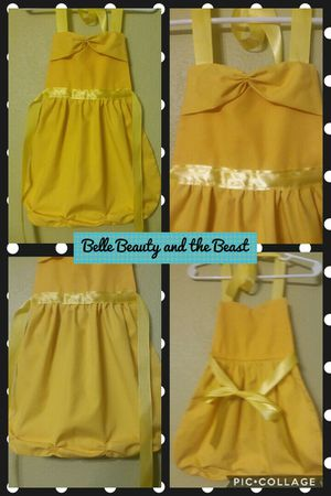 Disney Princess Belle Beauty and the Beast Princess Dress Up Apron New Handmade 3 Sizes for Sale in St. Louis, MO