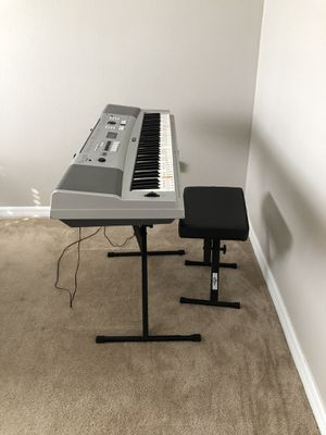 Yamaha DGX-230 Piano with Stand, Chair and Sustain pedal for Sale in Kissimmee, FL