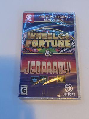 Wheel of Fortune & Jeopardy Nintendo Switch Game (BRAND NEW) for Sale in San Bernardino, CA
