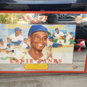Vintage Ernie Banks (Seagrams 7) Bar Art for Sale in Surprise, AZ