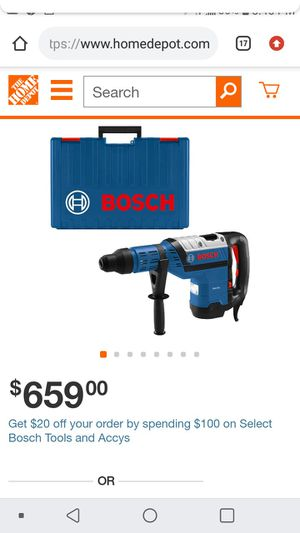 Bosch 13-5 Amps rotary hammer for Sale in San Jose, CA