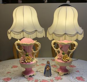 Beautifully antique hand painted lamps 60$ obo for Sale in Tucson, AZ