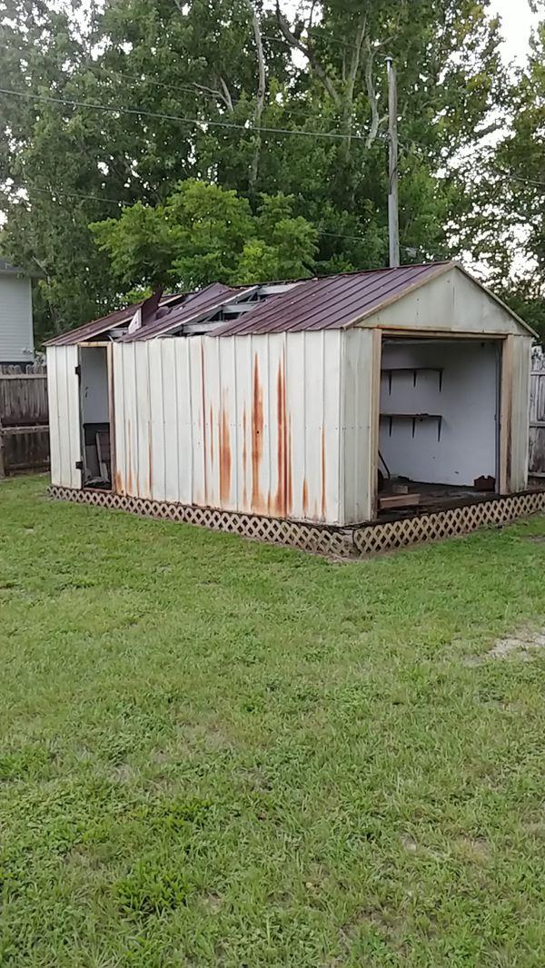 Free scrap sheetmetal shed