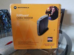 Motorola internet/cable modem. for Sale in Bradenton, FL