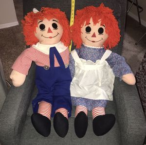 Big Raggedy Ann Anne and Andy Doll just $25 for Sale in Port St. Lucie, FL