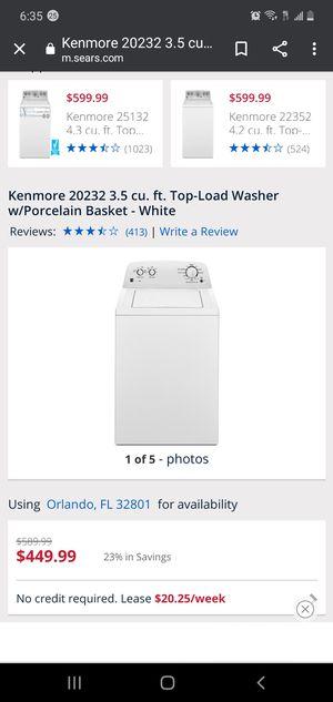 Kenmore 20232 3.5 cu. ft. Top-Load Washer w/Porcelain Basket - White for Sale in Orlando, FL