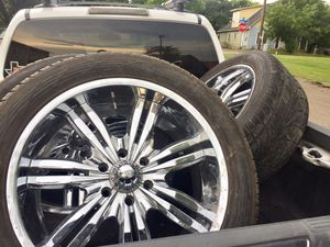 """22"""" Chrome Wheels & Tires!! $600 OBO for Sale in Burleson, TX"""