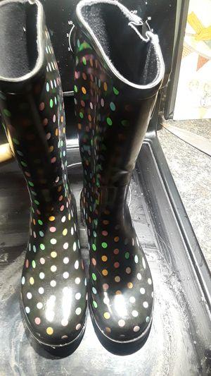 Rainbow rain boots for Sale in Milwaukee, WI