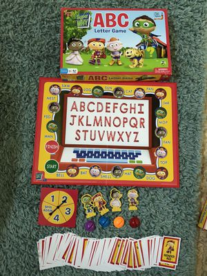 Super Why ABC letter board game toddler preschool spelling for Sale in Lake Worth, FL
