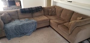 Tan, Light Brown Sectional Couch for Sale in Pittsburgh, PA