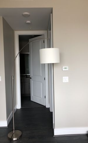 Modern arch white lamp with stainless steel base for Sale in Houston, TX
