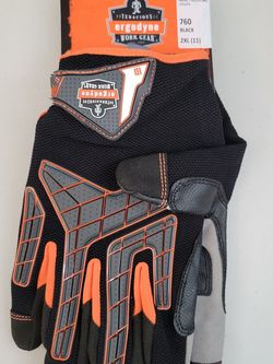 New Ergodyne ProFlex 760 Knuckle Protection Impact-Reducing Utility Gloves 2XL for Sale in Los Angeles,  CA