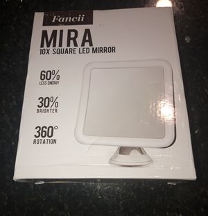 "Fancii 10X Magnifying Lighted Makeup Mirror - Daylight LED Travel Vanity Mirror - Compact, Cordless, Locking Suction, 6.5"" Wide, 360 Rotation, Portab for Sale in Santa Clarita, CA"