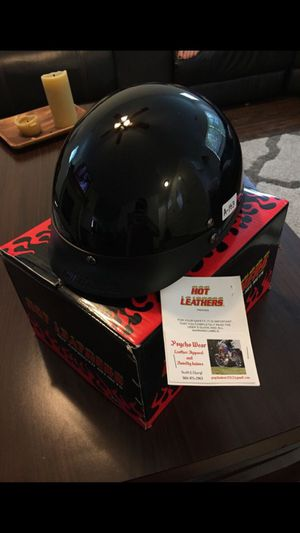 Hot Leather Motorcycle Helmet for Sale in Spanaway, WA