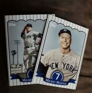 2 Mickey Mantle baseball cards for Sale in West Valley City, UT