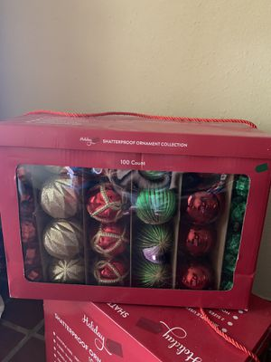 1 box Christmas decorating ornaments for Sale in Haines City, FL