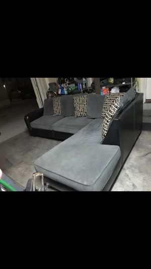 Beautiful gray sectional like new in good condition no rips no burn pet free smoke free Chula Vista area delivery upon request San Diego and Chula Vi for Sale in Chula Vista, CA
