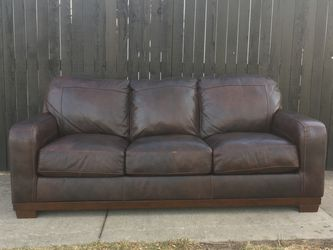 Leather Couch - Free Deliver for Sale in Denver,  CO