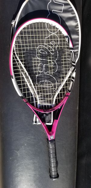 Wilson Nano Carbon hope 110 tennis racket for Sale in Sacramento, CA