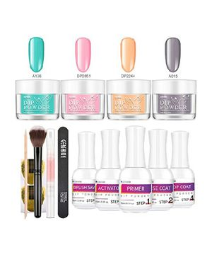Dip Powder Nail Starter Kit 1.06 oz 4 Colors Nail Dipping Powder System Kit Acrylic Dipping System for Sale in Long Beach, CA