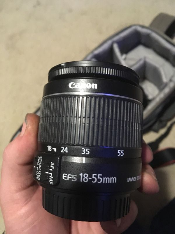 Canon EOS T3 with 2 lenses