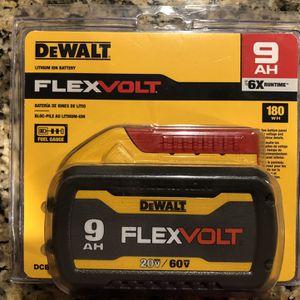 Dewalt 9.0Ah Flex Volt Battery for Sale in Haverhill, MA