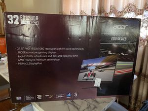 """Acer curved gaming monitor 32"""" 165hz freesync ED320QR for Sale in Queens, NY"""