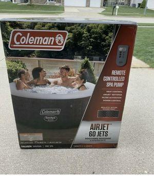 Coleman Inflatable remote control hot tub for Sale in Manassas, VA