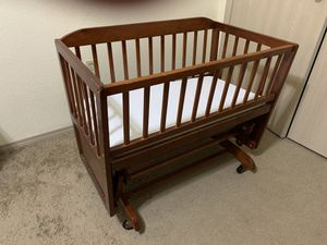 Wooden baby cradle for Sale in Fayetteville, AR