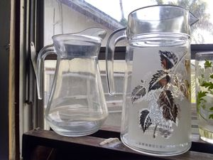 Libby's collectable vintage glasses and 2 solid glass pitcher for Sale in Spring Hill, FL
