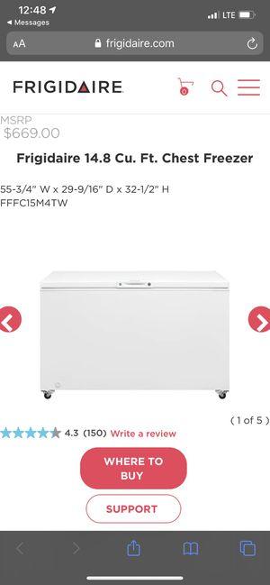 Frigidaire 14.8 Cu. Ft. Chest freezer for Sale in Cutler Bay, FL