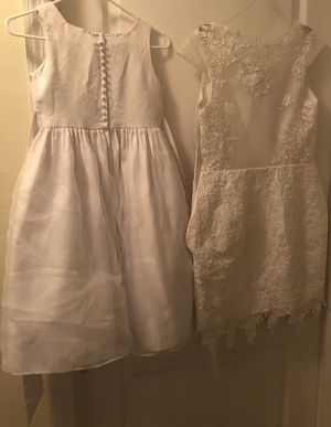 Wedding Short Dress adult size 12/14 and child's flower girl dress size 12 for Sale in Lehigh Acres, FL