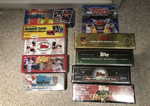 Topps sealed baseball complete sets for Sale in Sudley Springs, VA