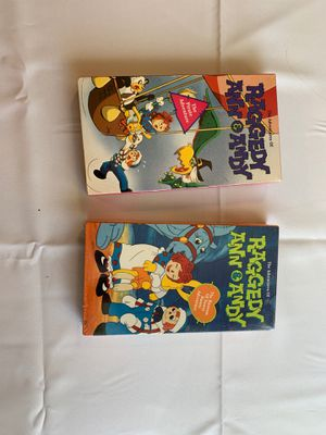 Raggedy Ann and Andy VHS collectibles. for Sale in Mesa, AZ