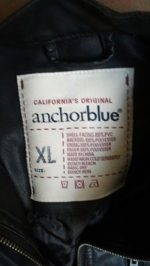 ANCHOR BLUE LEATHER JACKET for Sale in Sanger, CA