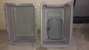Large 32x 24 x 22 gray travel dog kennel crate for Sale in Columbus, OH