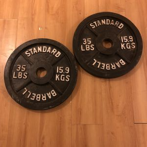 35lb Olympic Weights for Sale in Fresno, CA