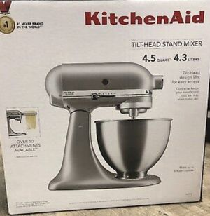 Kitchen aid mixer by kitchenaid silver mixer for Sale in Downey, CA