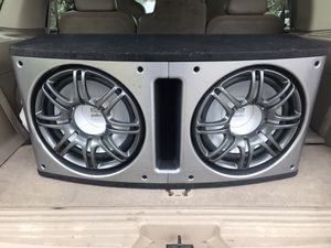 2 12 inch subs with amps for Sale in Tacoma, WA