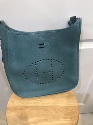 New Hermès light blue bag , never being used crossbody for Sale in Hollywood, FL
