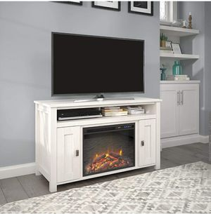 Ivory Pine Electric Fireplace TV Console up to 50 inches TV for Sale in ROWLAND HGHTS, CA